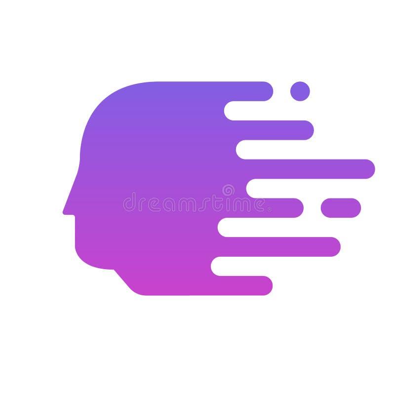 Ζωηρόχρωμα επικεφαλής σχέδια λογότυπων διανυσματική απεικόνιση