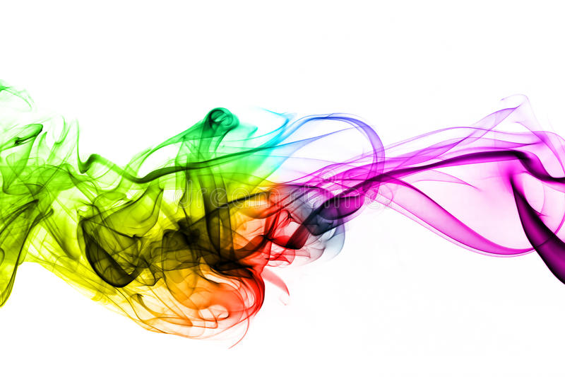 Ζωηρόχρωμα δημιουργικά κύματα καπνού στοκ εικόνα με δικαίωμα ελεύθερης χρήσης