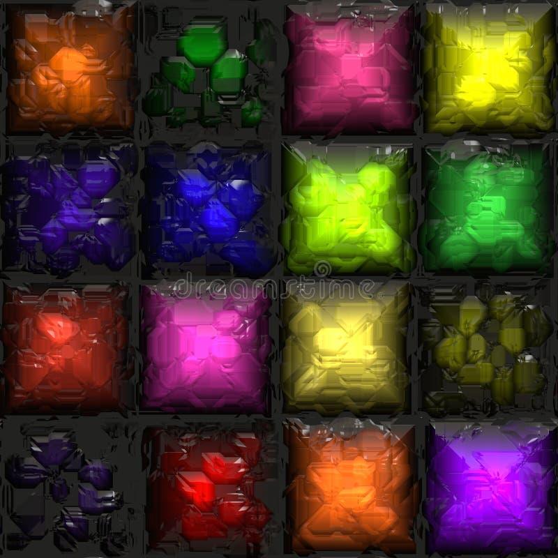 ζωηρόχρωμα κεραμίδια γυαλιού διανυσματική απεικόνιση