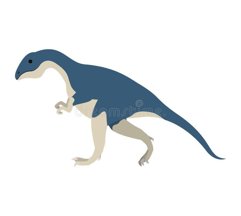 Ζωηρόχρωμα κινούμενα σχέδια με το allosaurus δεινοσαύρων ελεύθερη απεικόνιση δικαιώματος