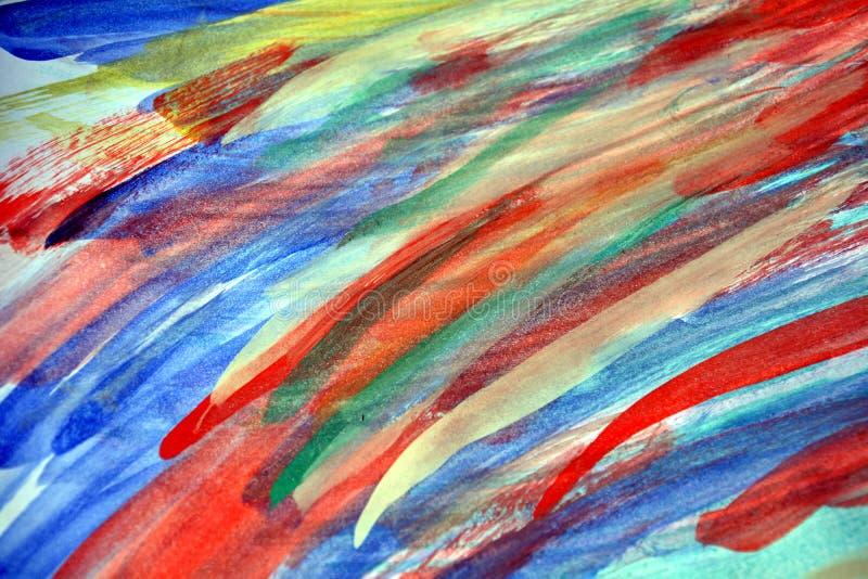 Ζωηρόχρωμα κτυπήματα γραμμών Watercolor της βούρτσας, αφηρημένο υπόβαθρο στοκ εικόνα με δικαίωμα ελεύθερης χρήσης