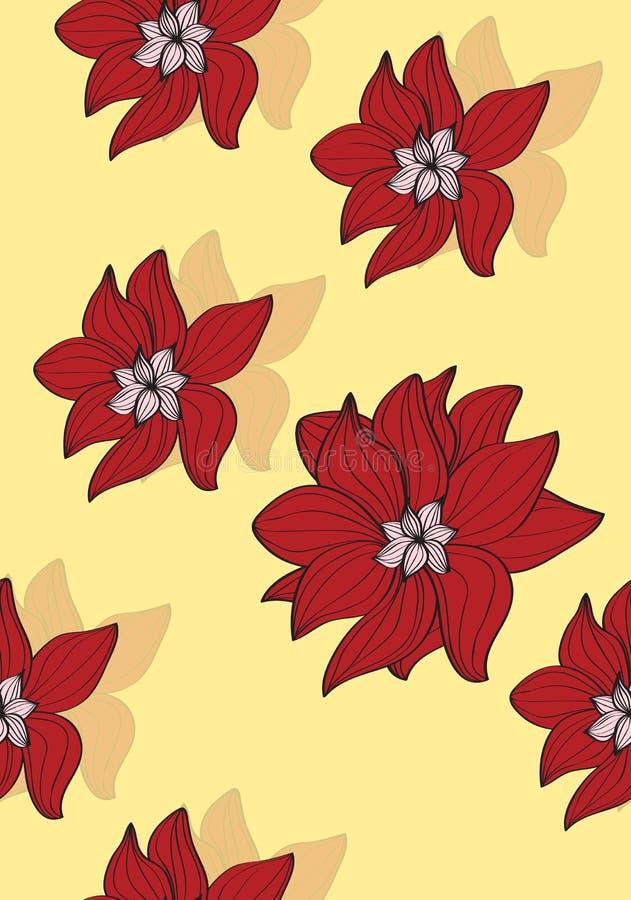 Ζωηρόχρωμα κόκκινα λουλούδια απεικόνιση αποθεμάτων