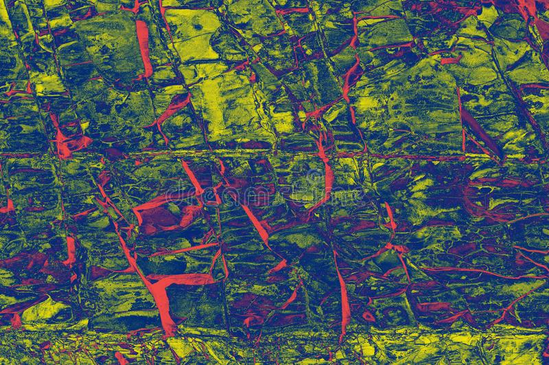 Ζωηρόχρωμα κόκκινα, ρόδινα, κίτρινα, και πορφυρά κεραμίδια μωσαϊκών πετρών στον τοίχο ως υπόβαθρο ή σύσταση στοκ εικόνες