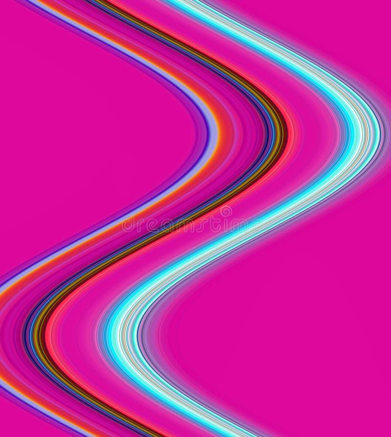 Ζωηρόχρωμα κύματα όπως το υπόβαθρο γραμμών και μορφών αντίθεσης στα χρώματα κρητιδογραφιών διανυσματική απεικόνιση