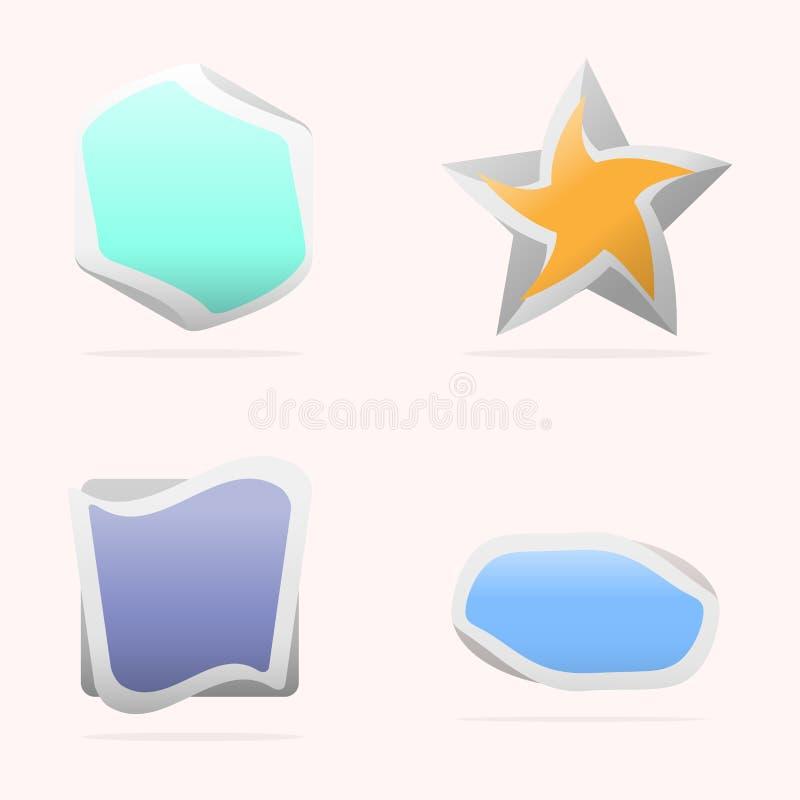 Ζωηρόχρωμα λογότυπα σχεδίου διανυσματική απεικόνιση