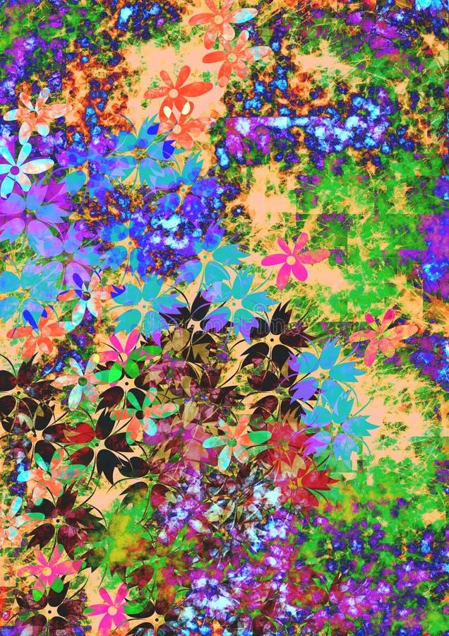 ζωηρόχρωμα λουλούδια ελεύθερη απεικόνιση δικαιώματος
