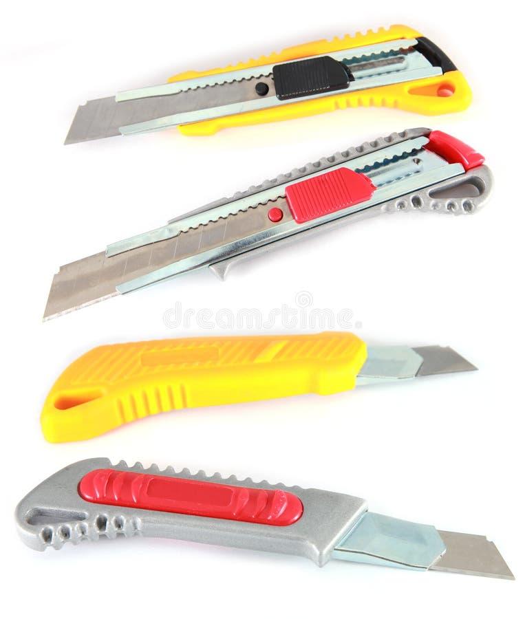 Ζωηρόχρωμα μαχαίρια χρησιμότητας στοκ φωτογραφίες