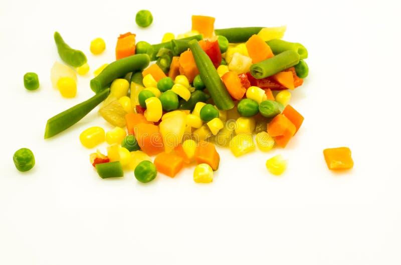 ζωηρόχρωμα μικτά λαχανικά Βαθύ βάθος του τομέα στοκ εικόνες