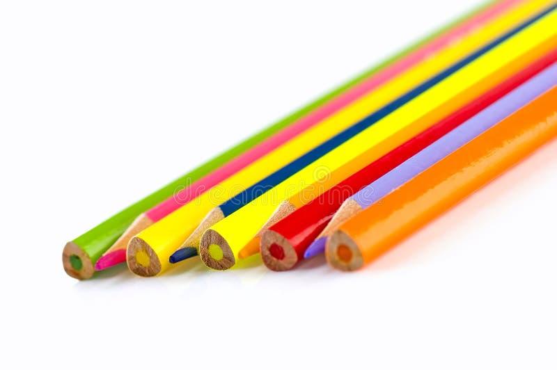 ζωηρόχρωμα μολύβια στοκ εικόνα