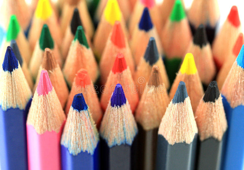 ζωηρόχρωμα μολύβια στοκ εικόνα με δικαίωμα ελεύθερης χρήσης