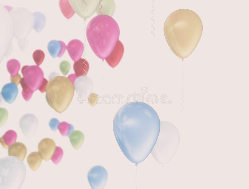 Ζωηρόχρωμα μπαλόνια στις καλοκαιρινές διακοπές στοκ φωτογραφία