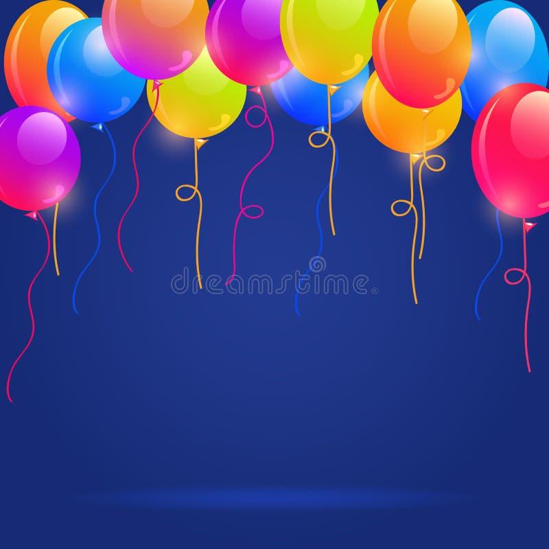 Ζωηρόχρωμα μπαλόνια Brigth διανυσματική απεικόνιση