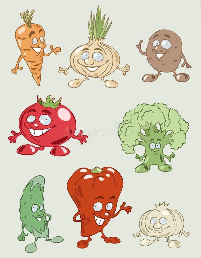 ζωηρόχρωμα νόστιμα λαχανι&kapp διανυσματική απεικόνιση