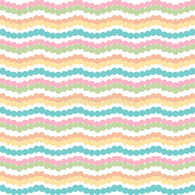 Ζωηρόχρωμα οριζόντια λωρίδες τρεκλίσματος σιριτιών στο άσπρο υπόβαθρο ελεύθερη απεικόνιση δικαιώματος