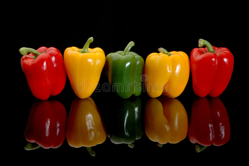 ζωηρόχρωμα πιπέρια στοκ εικόνες