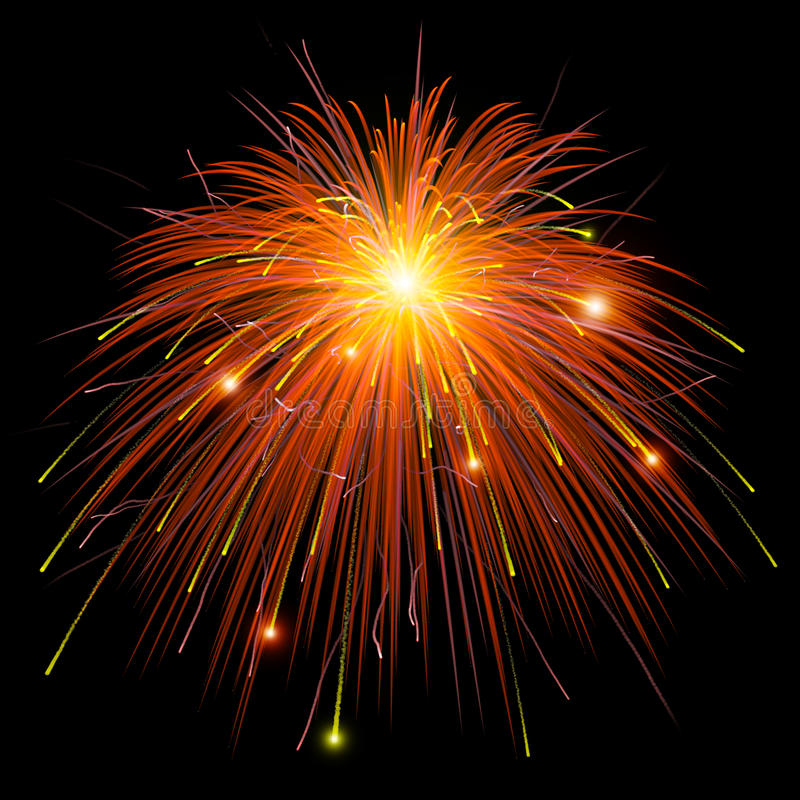 Ζωηρόχρωμα πυροτεχνήματα απεικόνιση αποθεμάτων