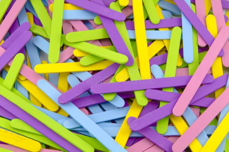Ζωηρόχρωμα ραβδιά Popsicle στοκ φωτογραφία με δικαίωμα ελεύθερης χρήσης