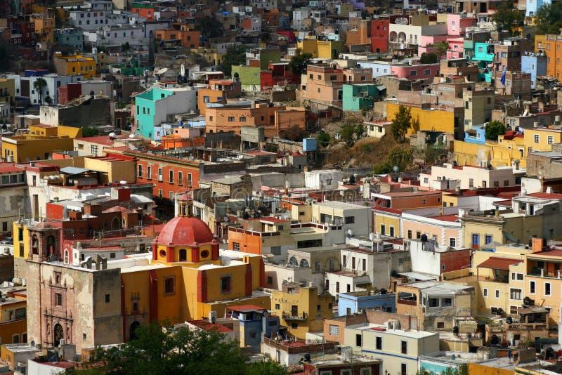 ζωηρόχρωμα σπίτια guanajuato στοκ φωτογραφία με δικαίωμα ελεύθερης χρήσης