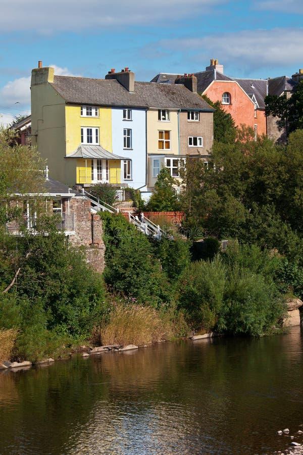 ζωηρόχρωμα σπίτια UK Ουαλία στοκ εικόνες με δικαίωμα ελεύθερης χρήσης