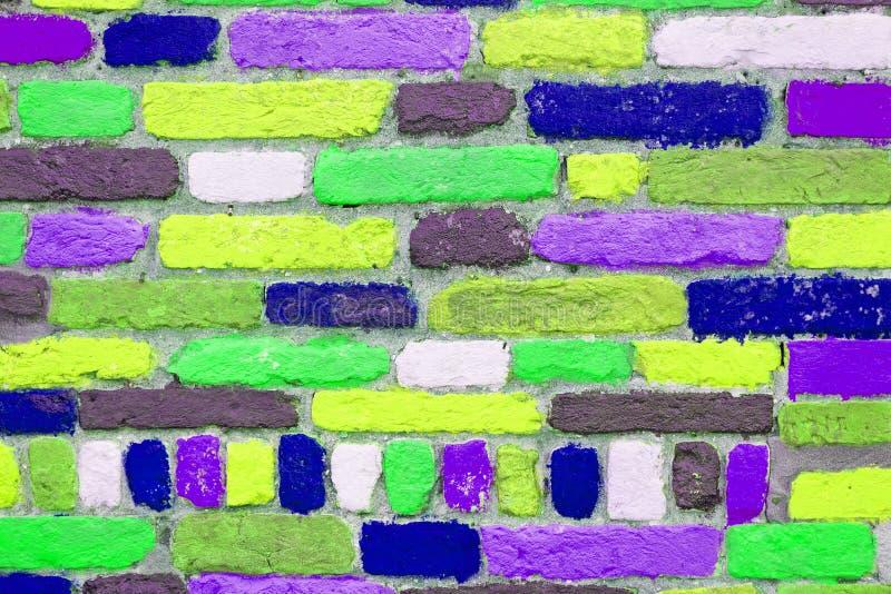 Ζωηρόχρωμα τούβλα στοκ εικόνα με δικαίωμα ελεύθερης χρήσης