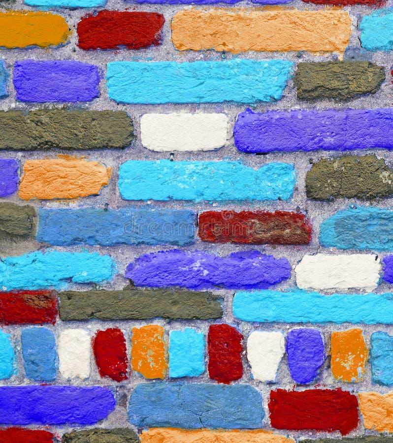 Ζωηρόχρωμα τούβλα στοκ φωτογραφία με δικαίωμα ελεύθερης χρήσης