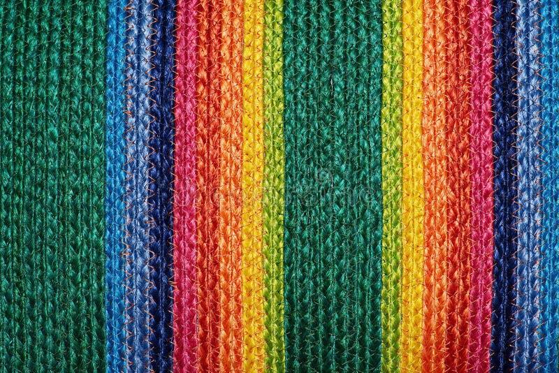 Ζωηρόχρωμα υφαμένα taxtures & υπόβαθρο κουβερτών μαλλιού σίζαλ στοκ φωτογραφία