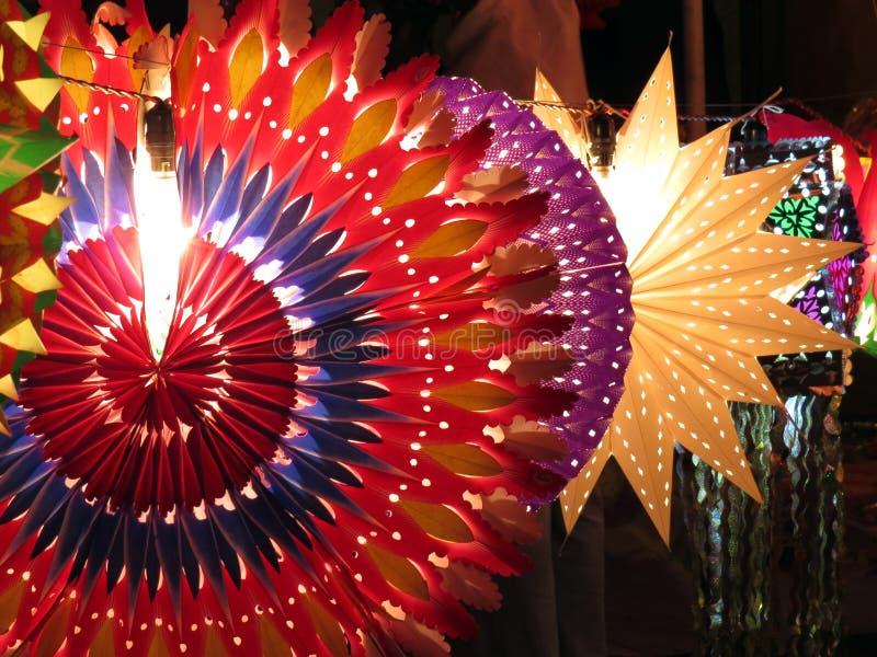 Ζωηρόχρωμα φανάρια Diwali Στοκ Εικόνες