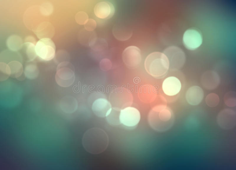 Ζωηρόχρωμα φω'τα Blured στο σκούρο πράσινο υπόβαθρο διανυσματική απεικόνιση