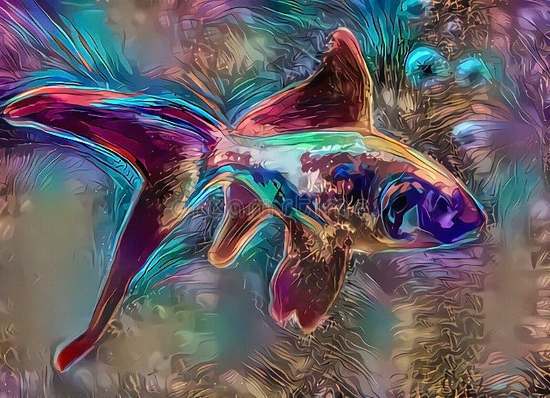 ζωηρόχρωμα ψάρια ελεύθερη απεικόνιση δικαιώματος