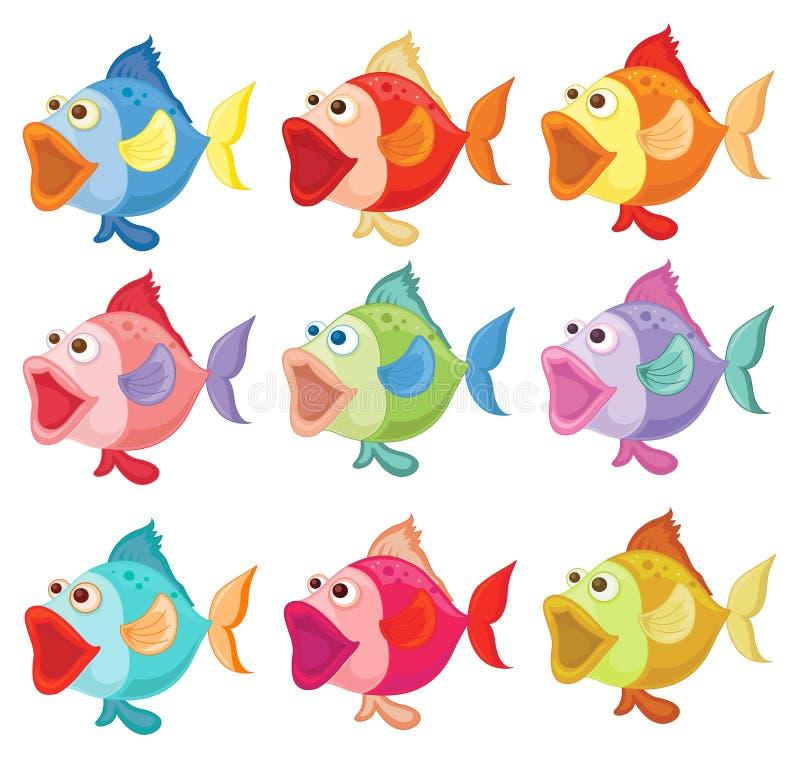 Ζωηρόχρωμα ψάρια απεικόνιση αποθεμάτων