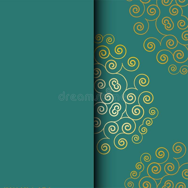 Ζωηρόχρωμα Floral ευχετήρια κάρτα κύκλων και πρότυπο πρόσκλησης για την επέτειο γάμου ή γενεθλίων, διανυσματική τετραγωνική μορφή απεικόνιση αποθεμάτων