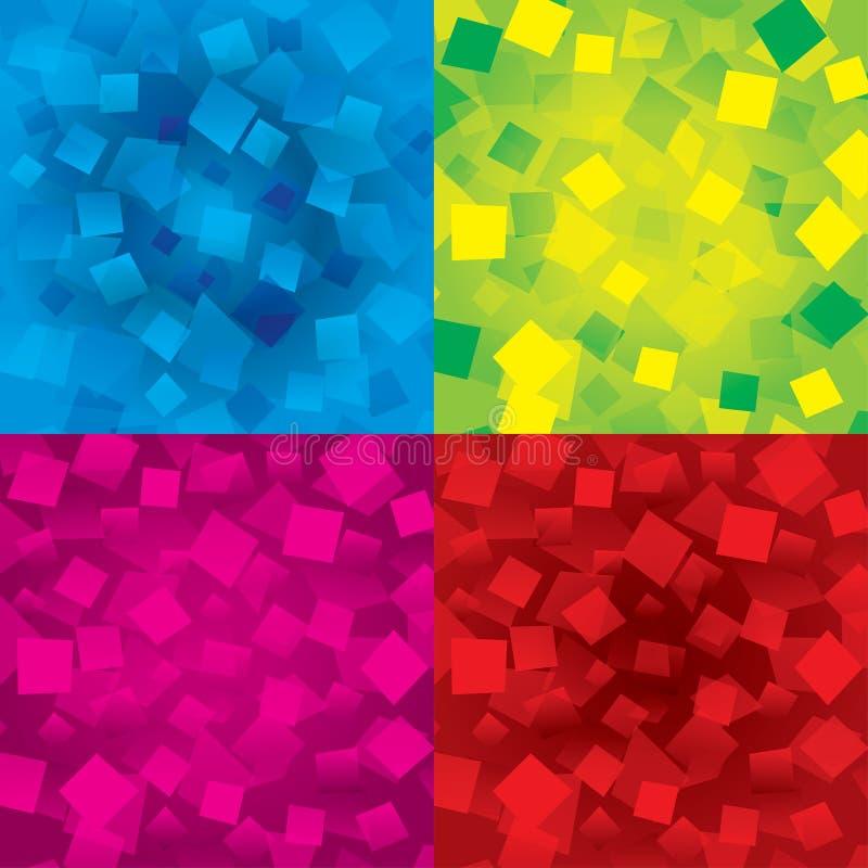 Ζωηρόχρωμες αφηρημένες ανασκοπήσεις που τίθενται με τα ορθογώνια ελεύθερη απεικόνιση δικαιώματος