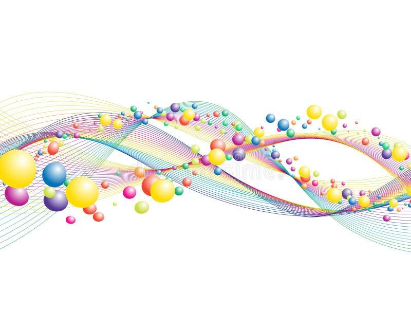 Ζωηρόχρωμες γραμμές διανυσματική απεικόνιση