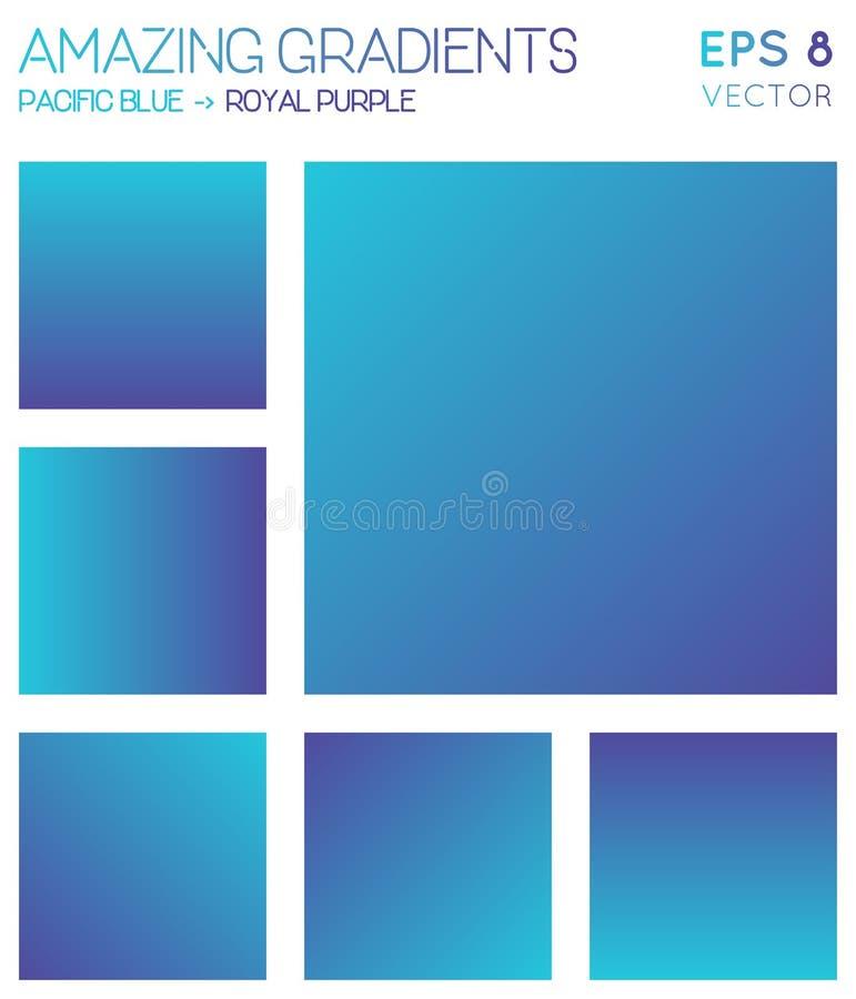 Ζωηρόχρωμες κλίσεις στην ειρηνική μπλε, βασιλική πορφύρα ελεύθερη απεικόνιση δικαιώματος