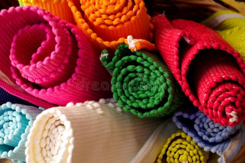 ζωηρόχρωμες κουβέρτες στοκ φωτογραφία