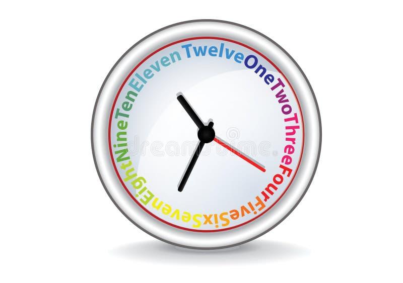 ζωηρόχρωμες λέξεις ρολ&omicron διανυσματική απεικόνιση