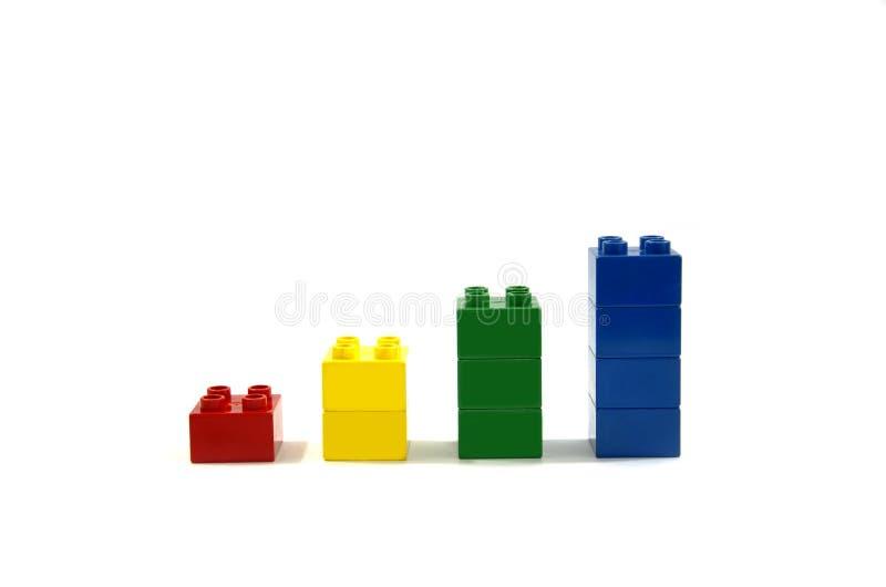 Ζωηρόχρωμες ομάδες δεδομένων Lego στοκ φωτογραφία