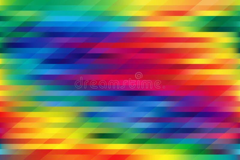 Ζωηρόχρωμες οριζόντιες και διαγώνιες γραμμές υποβάθρου πλέγματος διανυσματική απεικόνιση