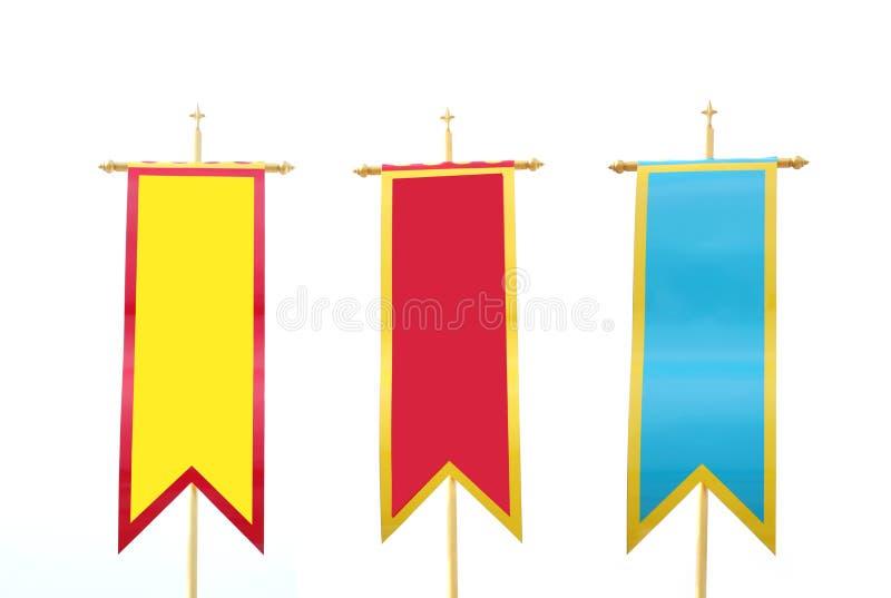 Ζωηρόχρωμες σημαίες καθορισμένες στοκ φωτογραφίες