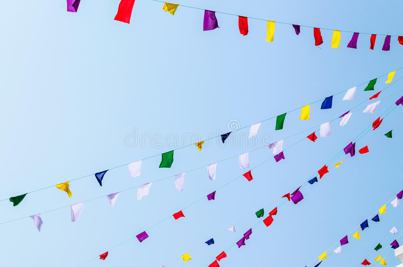 Ζωηρόχρωμες σημαίες υφάσματος στοκ φωτογραφίες με δικαίωμα ελεύθερης χρήσης