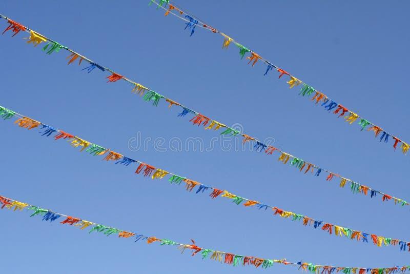 ζωηρόχρωμες σημαίες διανυσματική απεικόνιση