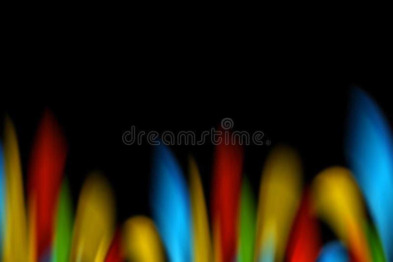 ζωηρόχρωμες φλόγες ελεύθερη απεικόνιση δικαιώματος