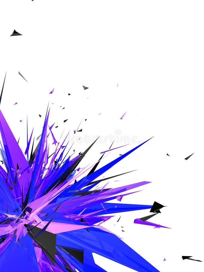 ζωηρόχρωμη έκρηξη διανυσματική απεικόνιση