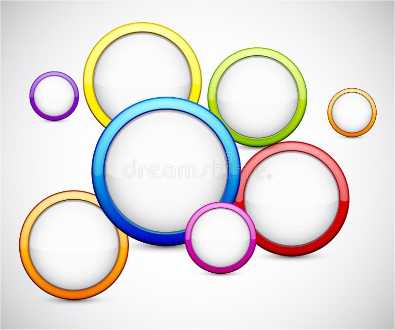 Ζωηρόχρωμη ανασκόπηση με τους στιλπνούς κύκλους. ελεύθερη απεικόνιση δικαιώματος