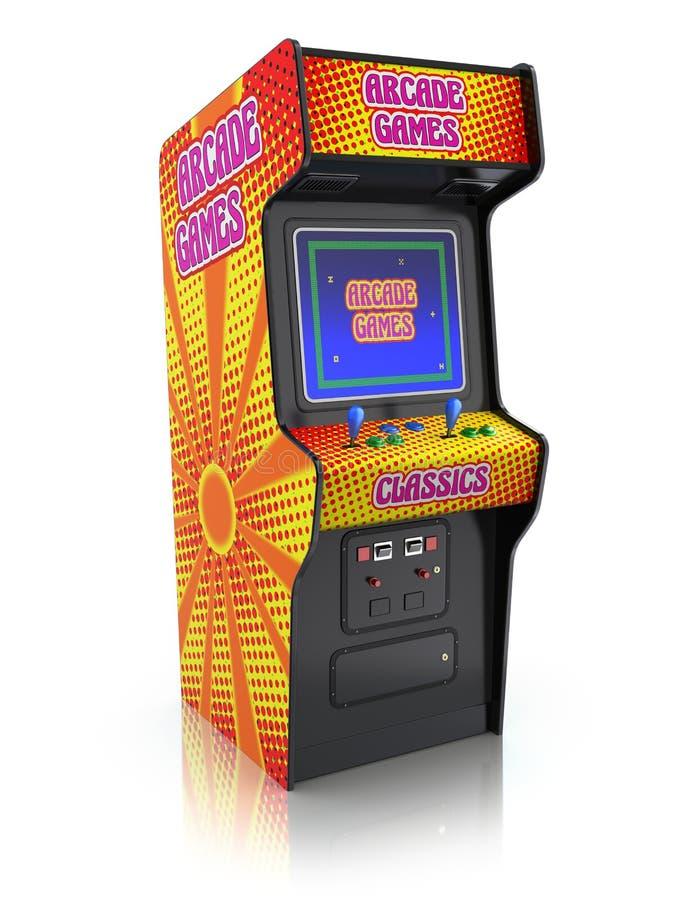 Ζωηρόχρωμη αναδρομική μηχανή παιχνιδιών arcade ελεύθερη απεικόνιση δικαιώματος