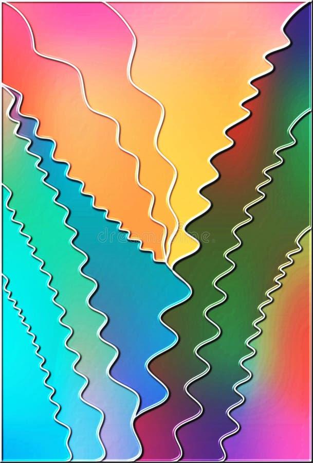 Ζωηρόχρωμη αφηρημένη διανυσματική απεικόνιση κυμάτων διανυσματική απεικόνιση