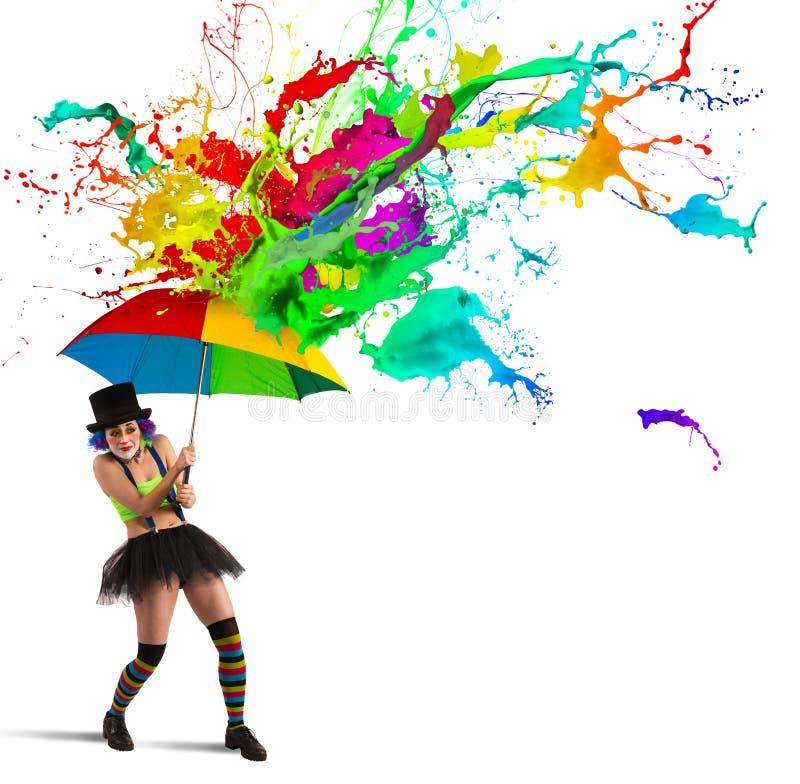 Ζωηρόχρωμη βροχή στοκ φωτογραφία με δικαίωμα ελεύθερης χρήσης