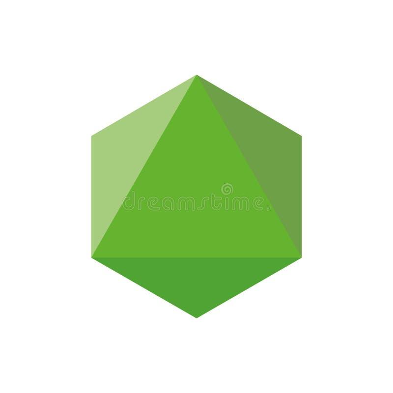 Ζωηρόχρωμη γεωμετρική διανυσματική απεικόνιση αριθμού: Octahedron διανυσματική απεικόνιση