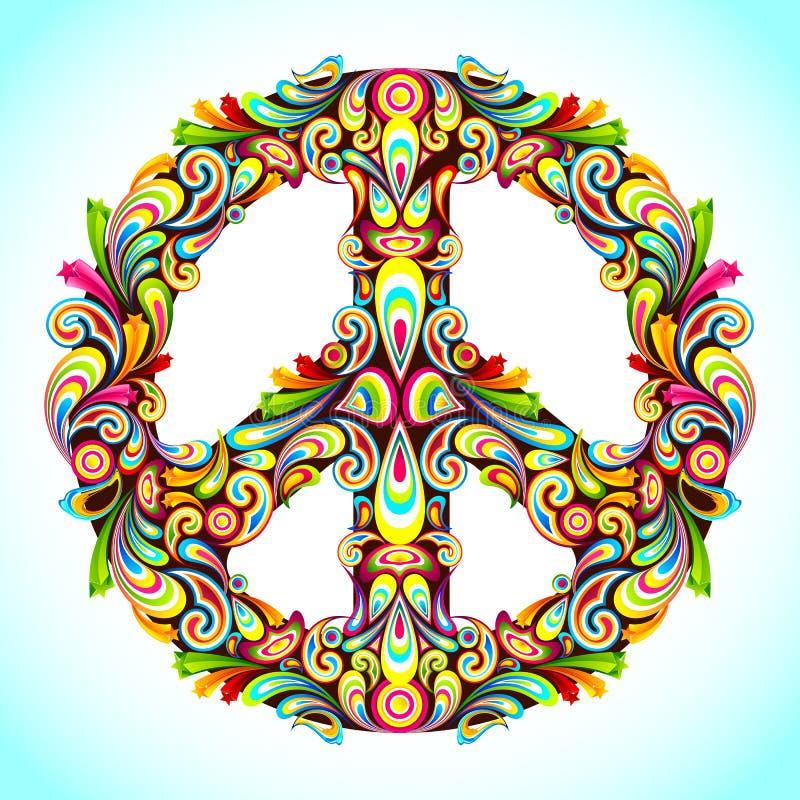 ζωηρόχρωμη ειρήνη ελεύθερη απεικόνιση δικαιώματος