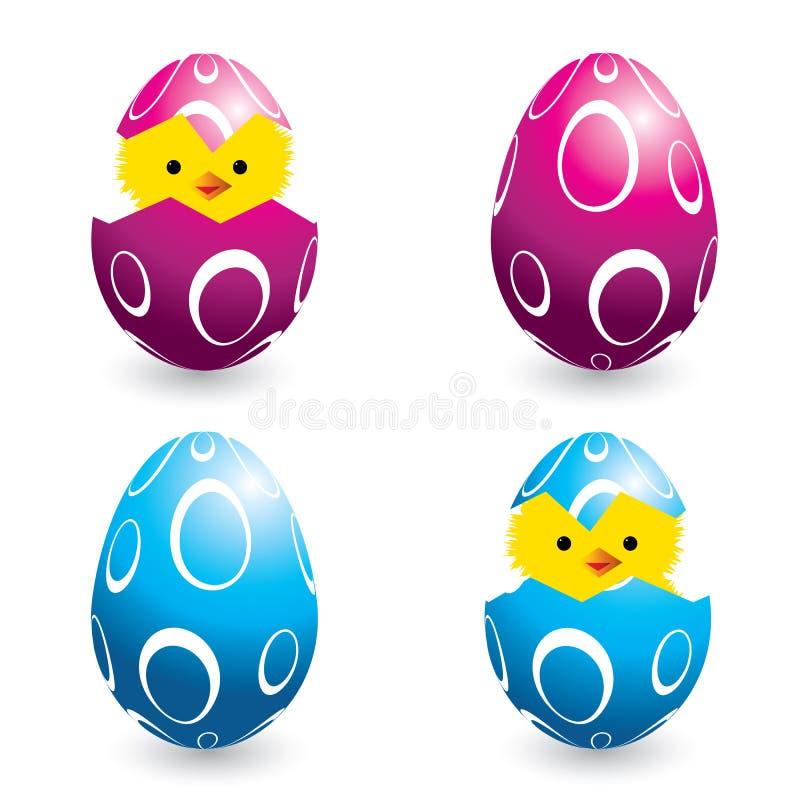 ζωηρόχρωμη εκκόλαψη αυγών  ελεύθερη απεικόνιση δικαιώματος